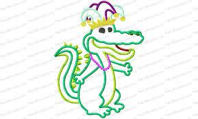 mardi gras embroidery designs mardi gras alligator applique embroidery design