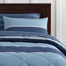 Blue Striped Comforter Set Aiden Stripe Value Comforter Set With Sheets Pillowcase