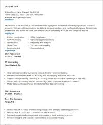 Resume Junior Accountant Sample Staff Accountant Resume 9 Examples In Word Pdf
