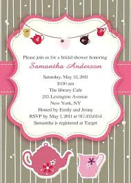 tea party bridal shower invitations and wedding shower invitations and baby shower