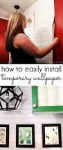 Wallpaper Removable Diy With Style How To Install Temporary Removable Wallpaper