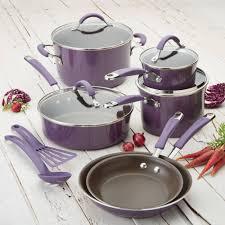 rachael ray cucina hard enamel nonstick 12 piece cookware set