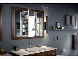 How To Replace A Medicine Cabinet Mirror K 99011 Verdera Medicine Cabinet With Triple Mirrored Doors Kohler