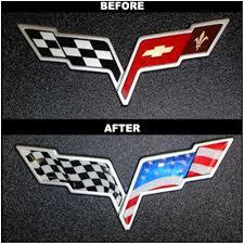 Corvette Flags 2005 2013 C6 Corvette American Flag Emblem Decal Overlay Free