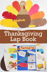 make an adorable book to teach about thanksgiving