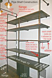 Wood Shelf Plans Do Yourself by Diy Show Off Diy Pipe Shelves Diy Pipe And Pipes