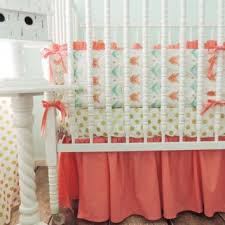 gold arrow baby bedding aqua coral from jack and jill boutique