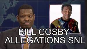 bill cosby thanksgiving snl weekend update 2014 bill cosby allegations michael che