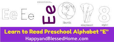 5 free preschool worksheets for preschool alphabet letter e