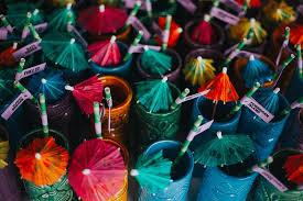 hawaiian themed wedding pineapples paper umbrellas at this hawaiian themed wedding in