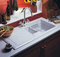Bowl Ceramic Kitchen Sink Left Hand Drainer Rangemaster - Rangemaster kitchen sinks