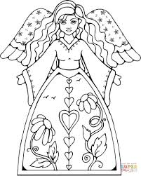 angel coloring pages free printable angel coloring pages for kids