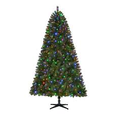 home accents 7 5 ft pre lit led wesley spruce set