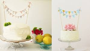cake banner topper bunting cake toppers tutorials cake magazine