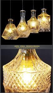 Crazy Lamps Retro Art Personality Led Pendant Lights Glass Bottle Pendant