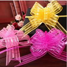 pull bows wholesale 10 pcs wedding car sheer garland 5cm organza pull bows gift ribbon