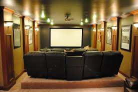 Luxurious Home Theater With Decorative Wall And Plush Seating Home - Home theater design layout