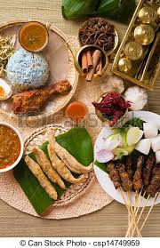 cuisine ramadan various popular malaysia food for ramadan hari raya stock images