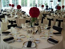 Topiary Wedding - gold and black table settings home decorating interior design