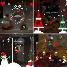 Christmas Decoration For Glass Door discount glass door christmas decoration 2017 glass door