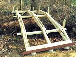 wooden bridge plans backyard wooden bridge pond bridge garden storage shed plans