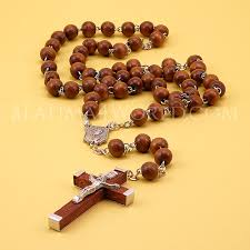 wooden rosary wooden rosary metal and wooden cross 40cm cross 4 5cm