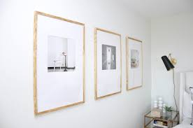 light wood picture frames diy large mat offset picture frames house updated