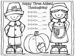 addition coloring pages thanksgiving coloring