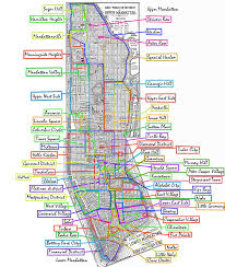 New York City Street Map by List Of Manhattan Neighborhoods Wikipedia