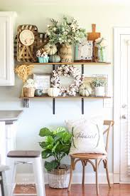 kitchenshelves com my neutral fall entry way and kitchen shelves the turquoise home