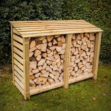 wood store large slatted log store log store