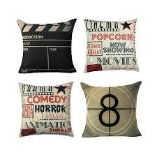 personalized home decor movie theater cinema personalized home decor design throw pillow