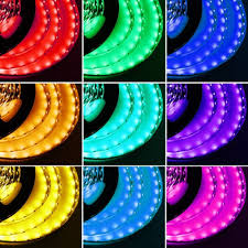 Bright Led Light Strips by 16 4ft Rgb Color Changing Flexible Led Strip Lights 5050 Smd Led