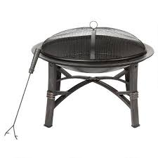 black metal outdoor pit with cover tree shops