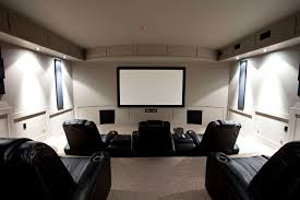 home theater in basement home movie theatre nusite waterproofing contractors