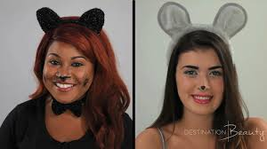 cat and mouse halloween makeup tutorial with nitraab u0026 hellokatyxo