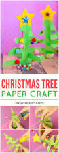 simplest 3d paper christmas tree print or make with construction