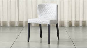 curran quilted oyster dining chair crate and barrel