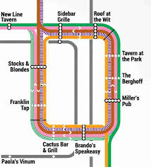 cta line map chicago bar map is the best not made by cta thrillist