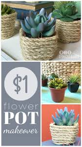 dollar store diy home decor flower pot makeover dollar stores store and flower