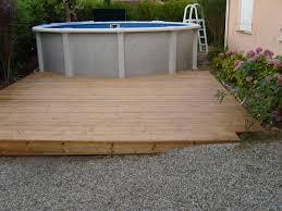 amenagement autour piscine hors sol terrasse pin andernos les bains plage de piscine hors sol