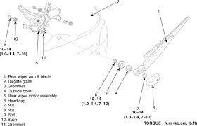 hyundai santa fe rear wiper arm repair guides wipers washers rear window wiper washer