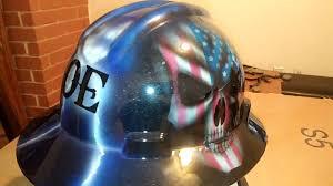 American Flag Skull Custom Painted Skull Hard Hat With American Flag Skull Youtube