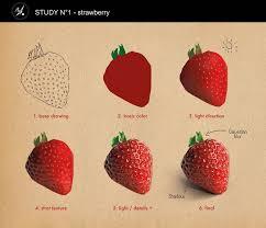 study n 1 strawberry romane besly on artstation at s art tutoriarawing tutoriaigital