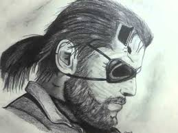 drawing big boss metal gear solid v the phantom pain youtube