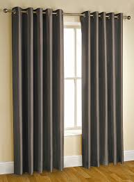 Grey Curtains 90 X 90 Faux Silk Fully Lined Eyelet Curtains 90 X 108 Inches