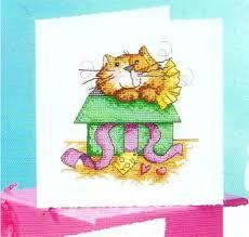 free shipping top quality popular diy cross stitch greeting card