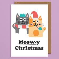 meowy christmas meowy christmas card studio boketto