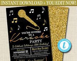 karaoke invitations etsy