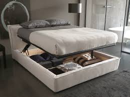 Upholstered Headboard Storage Bed by Double Bed With Upholstered Headboard Bee By Bolzan Letti Home